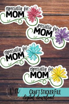 How To Make Stickers, Craft Stickers, Printable Stickers, Cute Stickers, Happy Mothers Day Banner, Mother's Day Banner, Simple Prints, Logo Background, Pattern And Decoration