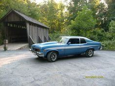 1973 SS CHEVY NOVA owned by my son Jeremy taken at the Pisagh Covered Bridge in Asheboro N.C