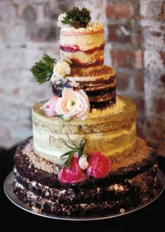 Milk Bar multi flavored wedding cake