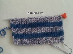 ÖRMESİ GİYMESİ PRATİK 2 ŞİŞ AÇIK ÖRGÜ ÇORAP | Nazarca.com Knitted Hats, Crochet Hats, Moda Emo, Seersucker, Old Women, Diy And Crafts, Socks, Embroidery, Knitting