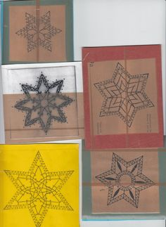 TK lace: Christmas in preparation for two Christmas Snowflakes, Xmas, Jewish Crafts, Bobbin Lace Patterns, Lacemaking, Needle Lace, Projects To Try, Creations, Christmas Decorations