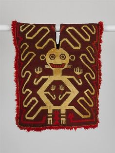 Tunic with Supernatural Figure, ca. 350–300 BCE Peru, south coast, probably Ocucaje area Camelid hair; simple looping; 24 x 21 in. (61 x 53 cm) Private Collection