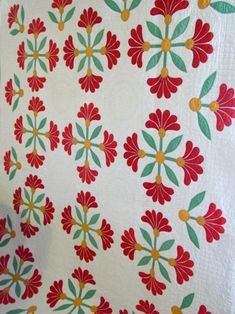 Mexican Rose applique quilt