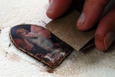 image transfer on resin clay