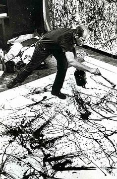 "Geweldige uitspraak van Jackson Pollock: ""I have no fear of changes, the sky is the limit"""
