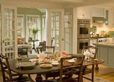 10 Homes With French Doors That Are Just So Gorgeous (PHOTOS)  This is our exact layout!