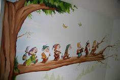 muurschildering kinderkamer | interieur ideeen