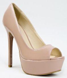Amazon.com: Qupid MIRIAM-24 Basic Open Toe High Heel Stiletto Platform Party Pump: Shoes