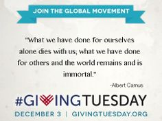 Quotes On Giving Givingtuesday Givingtuesday On Pinterest