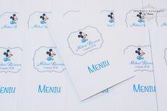 """INVITATII HANDMADE by Mariana: Meniuri botez """"Mickey Mouse"""""""