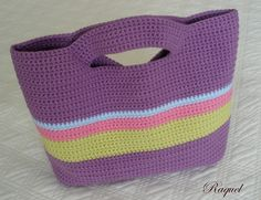 Upstairs in the loft: Step by step crochet bag Diy Crochet Bag, Crotchet Bags, Love Crochet, Knitted Bags, Crochet Crafts, Crochet Projects, Knit Crochet, Crochet Handbags, Crochet Purses