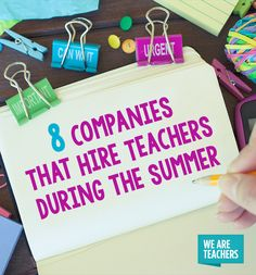 8 Companies That Hire Teachers During the Summer - WeAreTeachers
