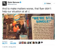 And when Dylan had a go at both Cole and himself in one tweet.