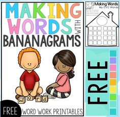 Word Work Center Free by Clever Classroom Kindergarten Portfolio, Kindergarten Literacy, Word Work Activities, Spelling Activities, Phonics Words, Cvc Words, First Grade Words, Word Work Centers, Making Words