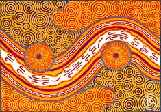 """Fire Dreaming"" by Malcolm Maloney Jagamarra 125cm x 86cm SOLD"