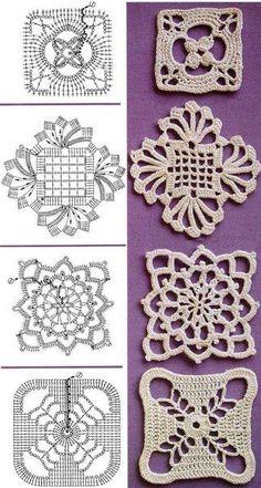 Transcendent Crochet a Solid Granny Square Ideas. Inconceivable Crochet a Solid Granny Square Ideas. Crochet Motif Patterns, Crochet Blocks, Crochet Diagram, Crochet Chart, Crochet Squares, Thread Crochet, Crochet Granny, Irish Crochet, Crochet Doilies