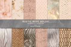 Rustic Rose Gold Textures & Patterns by Blixa 6 Studios on @creativemarket