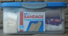 Perfect first aid kit.  I always make one for kids going away to college! It's surprising how much they needed cold medicine, Neosporin, Tylenol, Bandaids, ace bandage etc.! One girl, going off to the Peace Corps, told me she used hers all the time in college.