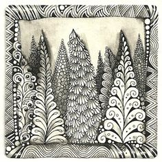 Ideas For Art Journal Inspiration Zen Tangles Zentangle Patterns Dibujos Zentangle Art, Zentangle Drawings, Doodles Zentangles, Zentangle Patterns, Doodle Drawings, Zentangle Art Ideas, Zen Doodle Patterns, Art Patterns, Zantangle Art