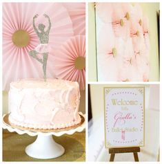 Pink and Gold Ballerina themed birthday party