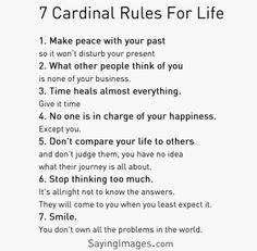 Rules to live by   - lmvus.com