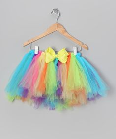 Rainbow Tutu & Bow Set - Infant, Toddler & Girls by Pink Laundry Boutique