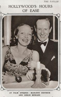 Leslie Howard and Marlene Dietrich at Palm Springs