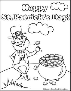 Leprechaun Coloring Page For St Patricks Day Its A