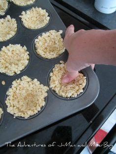 robin egg nest rice krispies