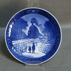 Plato de porcelana, Royal Copenhagen, Navidad 1973