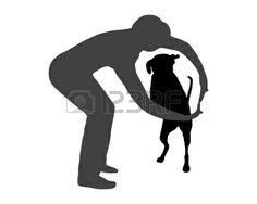 Dog agilité (l'obéissance): Commande: Aller à travers Banque d'images