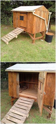 If you are thinking about setting the chicken coop center in your house garden, then choosing with the option of wood pallet is the dramatic options. You can have the arrangement of the chicken coop design in the shape of hut that will look reasonable and best.