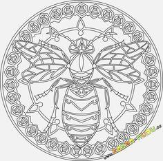 Mandala 41 - Mandala přírody - Včela, symbol píle výhodně od Zažeň ...