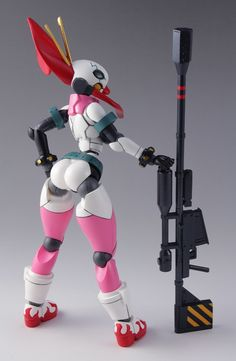Yoko got da booty even in Tengen Toppa form, 3d Character, Character Concept, Character Design, Vinyl Figures, Action Figures, Arte Robot, Robot Girl, Robot Concept Art, Mechanical Design