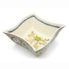 Coimbra Ceramics Hand-painted Decorative Salad Bowl XVII Century Recreation #202/1