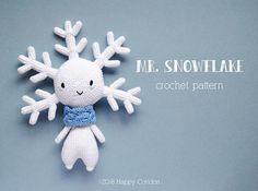 CROCHET PATTERN  Mr. Snowflake  amigurumi. Crochet pattern & tutorial to create a cutie snowflake amigurumi.