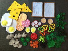 Made of felt for the children's kitchen - Kinderküche - Toys Felt Diy, Felt Crafts, Diy And Crafts, Diy For Kids, Crafts For Kids, Diy 2019, Childrens Kitchens, Felt Play Food, Diy Bebe