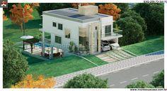 Planta de Sobrado - 3 Quartos - 250.73m² - Monte Sua Casa