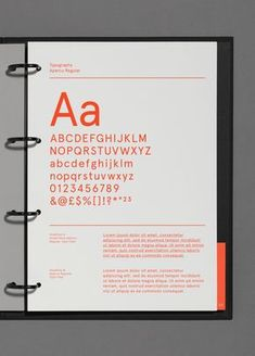 A straightforward layout when making brand guidelines can be really effective like this one. No images needed