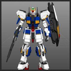 RX-178 Gundam Mk-II Ver.3 Free Papercraft Download - http://www.papercraftsquare.com/rx-178-gundam-mk-ii-ver-3-free-papercraft-download.html