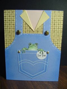 Finally - my first overalls card! by Stamp Lady - Cards and Paper Crafts at Splitcoaststampers