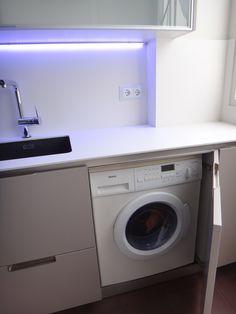Soluci n para secadora y lavadora con carga superior y for Mueble lavadora secadora ikea