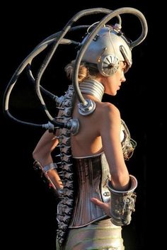 Bio mechanical suit costume made for Burning Man