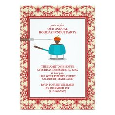 Shop Holiday Fondue Party Invitations created by thesugarshoppe. Holiday Invitations, Party Invitations, Julie Williams, Fondue Party, Yes I Can, Holiday Parties, Holiday Ideas, Holidays And Events, White Envelopes