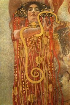 hygieia (detail of medicine) - gustav klimt.  the painting was destroyed by retreating ss forces in may 1945.