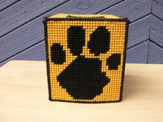 Paw Print Tissue Box Cover - Tiger Paw Tissue Box - Cat Paw Tissue Box - Puppy…