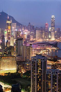 Hong Kong twilight time