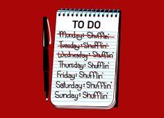 Shufflin' To Do List T-Shirt | SnorgTees
