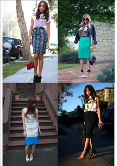 Wearing graphic tees with pencil skirts #graphictees #pencilskirts