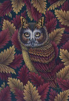 Birds Gone Buggy, 'Oberon's Owl' Diane Kremmer - 2008